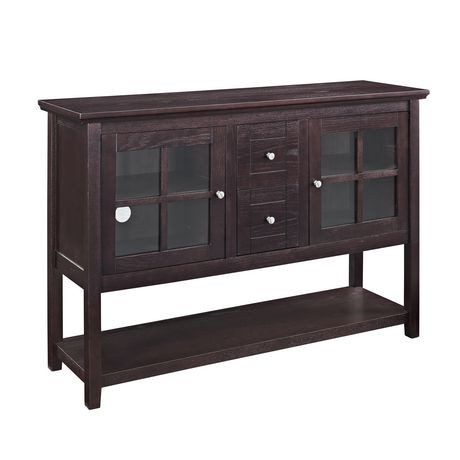 Walker Edison Espresso Wood Console Table Buffet Tv Stand Walmart Canada