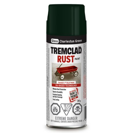 Tremclad charleston green rust paint walmart canada for Charleston green paint