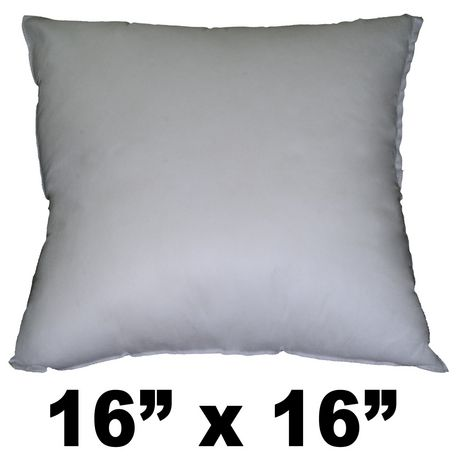 Hometex Square Polyester Fill Pillow Form Walmart Canada Extraordinary 16x16 Pillow Insert Walmart