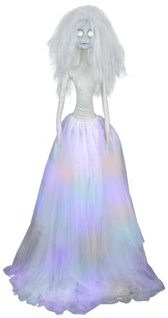 5' Life Size Animated  Whimsey Bridezilla with Color Changing Skirt - image 1 of 1