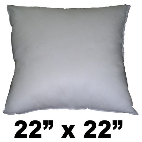 Hometex Square Polyester Fill Pillow Form Walmart Canada Extraordinary Pillow Insert 22x22