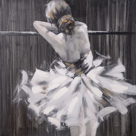 Hometrends Ballerina Painted Canvas Wall Art Walmart Canada