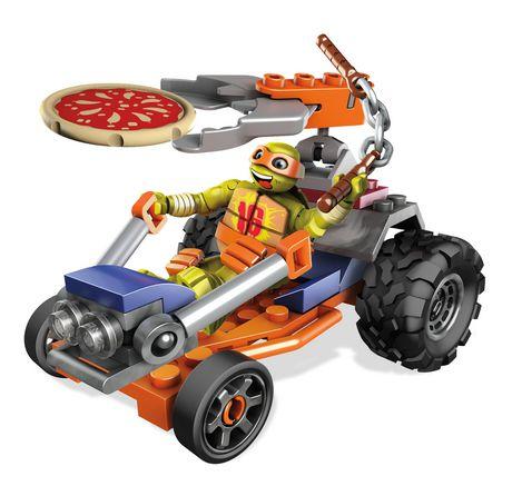 Ensemble de jeu les tortues ninja de mega bloks voiture - Voiture des tortues ninja ...