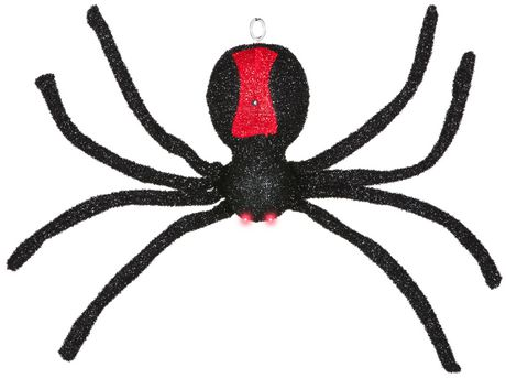 Animated Dropping Black Spider - image 1 of 4