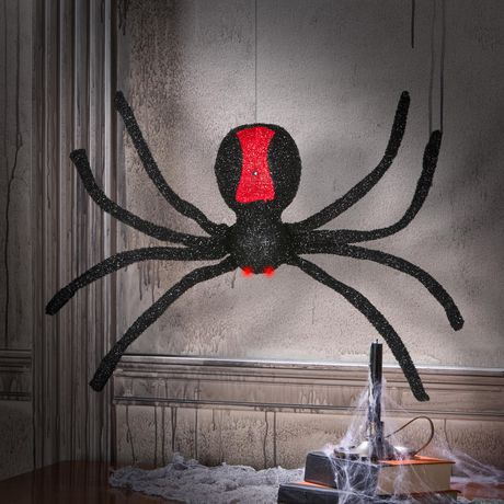 Animated Dropping Black Spider - image 2 of 4