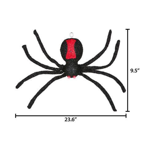 Animated Dropping Black Spider - image 4 of 4