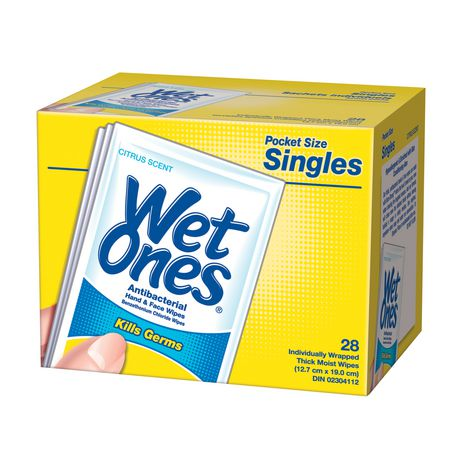 Serviettes antibactériennes pour les mains et le visage au parfum d'agrumes de Wet Ones - image 1 de 1