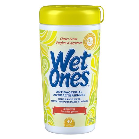 Wet Ones Antibacterial Citrus Scent Hand And Face Wipes - image 1 of 1