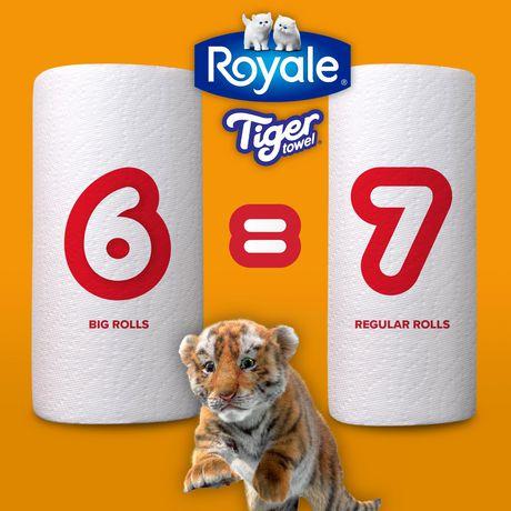 ROYALE® Tiger Towel à 2épaisseurs - fort - demi-feuilles pratiques - grands rouleaux - 6=7 rouleaux - image 7 de 7