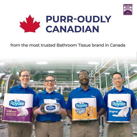 ROYALE® Tiger Towel à 2épaisseurs - fort - demi-feuilles pratiques - grands rouleaux - 6=7 rouleaux - image 5 de 7