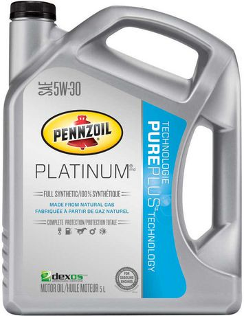 Pennzoil platinum full synthetic 5w30 motor oil with for Pure synthetic motor oil