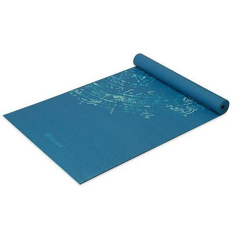 Gaiam 4mm Classic Printed Yoga Mat Blue Medallion