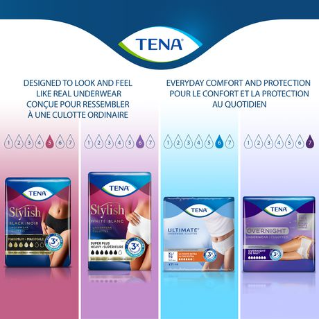 TENA Incontinence Underwear for Women, Super Plus Absorbency, Small/Medium, 18 Count - image 6 of 8