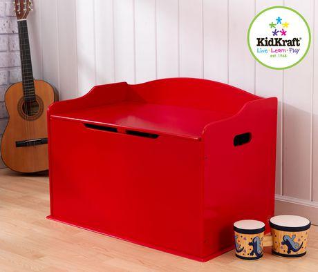 KidKraft Coffre à jouets Austin Rouge - image 2 de 2