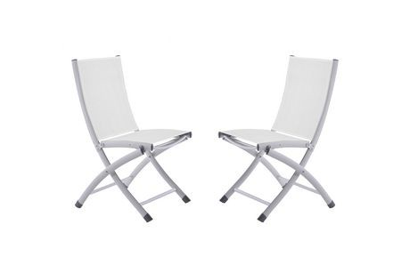 chaise pliante en aluminium blanc walmart canada. Black Bedroom Furniture Sets. Home Design Ideas
