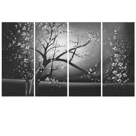 Floral Canvas Wall Art design art black and white floral canvas wall art | walmart.ca