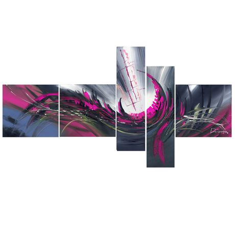 D coration murale sur toile design art abstrait rouge gris for Decoration murale walmart