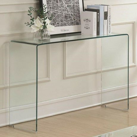 Plata Décor Waterfall Glass Console Table - image 3 of 3