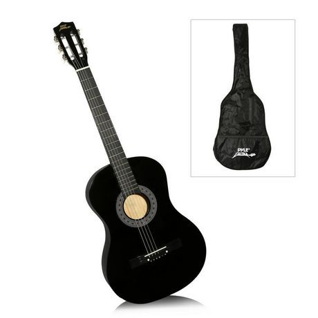 pyle 38 beginners 6 string acoustic guitar with carrying. Black Bedroom Furniture Sets. Home Design Ideas