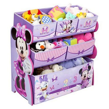 meuble de rangement avec bacs de disney minnie. Black Bedroom Furniture Sets. Home Design Ideas
