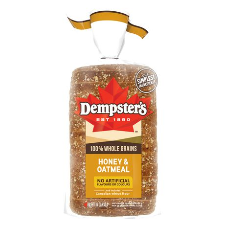 Dempster's® 100% Whole Grains Honey & Oatmeal Bread - image 2 of 8