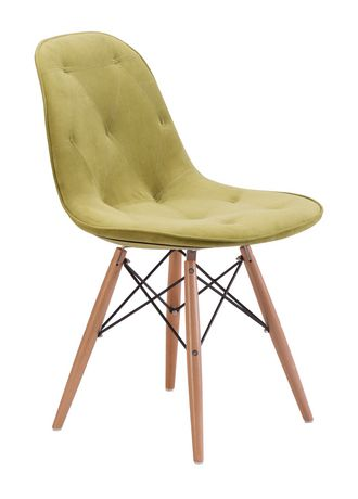 Zuo Modern One Piece Probability Green Dining Chair - image 1 of 4