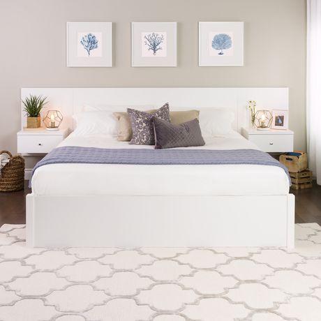 dossier de lit flottant prepac pour grand lit avec tables. Black Bedroom Furniture Sets. Home Design Ideas