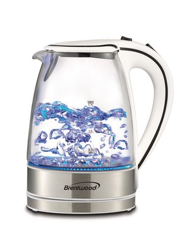 Brentwood 1.7L Cordless Glass Electric Kettle - image 1 of 7