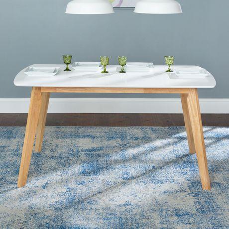 Manor Park Table à manger rétro moderne en bois - image 1 de 5