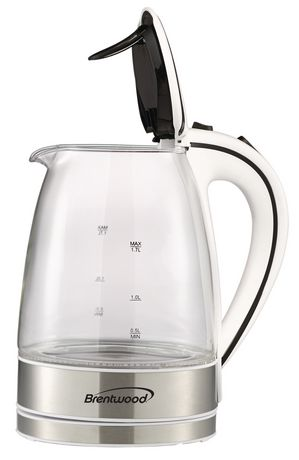 Brentwood 1.7L Cordless Glass Electric Kettle - image 3 of 7