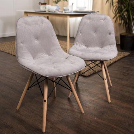 we furniture walker edison grey upholstered eames dining kitchen