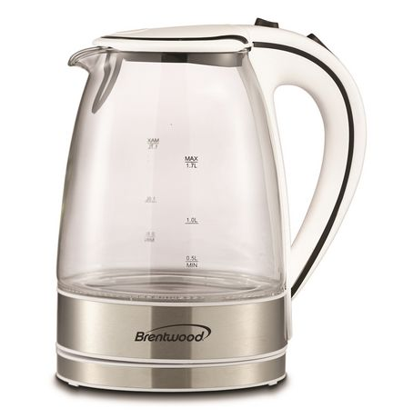 Brentwood 1.7L Cordless Glass Electric Kettle - image 2 of 7