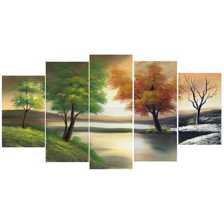 Ens d coration en toile design art changement des saisons for Decoration maison walmart