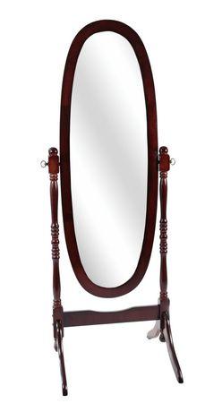Miroir de sol ovale monarch specialties en bois solide for Miroir walmart