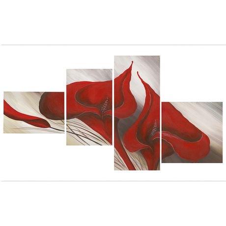 D coration murale sur toile design art florale walmart for Decoration murale walmart