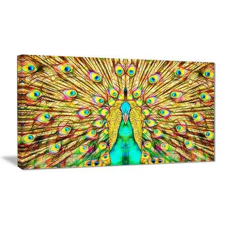 D coration murale sur toile design art plumes paon 1 for Decoration murale walmart