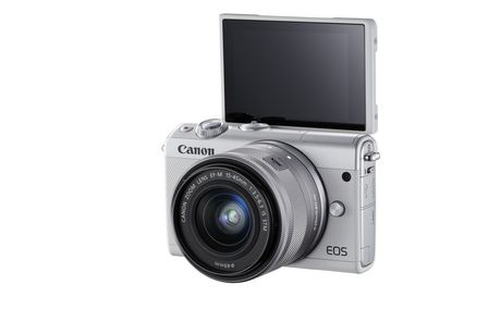 Canon Canada Inc Canon EOS M100 EF-M 15-45mm is Stm Kit White - image 5 of 9