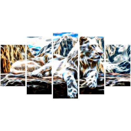 D coration murale sur toile design art tigre blanc for Decoration murale walmart