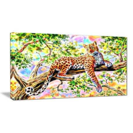 D coration murale sur toile design art gu pard vigilant 1 for Decoration murale walmart