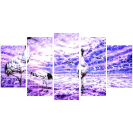 D coration murale sur toile design art cigognes plusieurs for Decoration murale walmart
