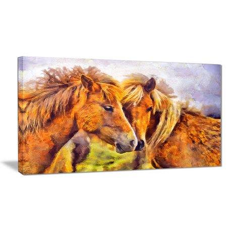 D coration murale sur toile design art chevaux amoureux 1 for Decoration murale walmart