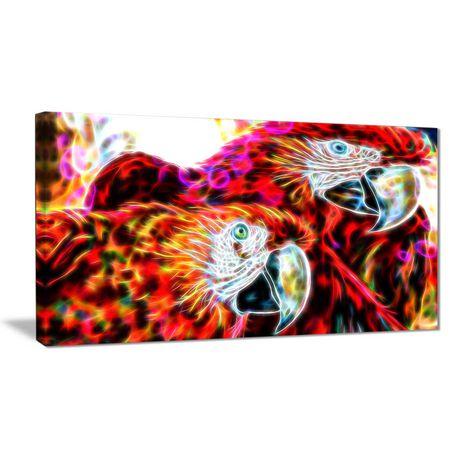 D coration murale sur toile design art perroquets macaw for Decoration murale walmart