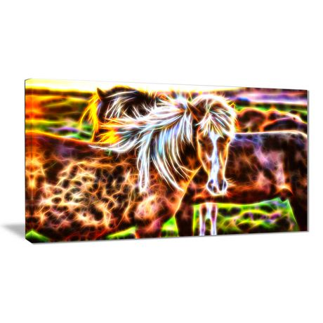Design Art Horse Embrace Animal Canvas Wall Art | Walmart Canada