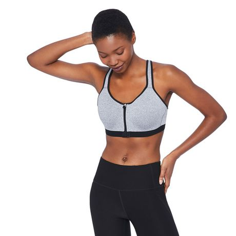 official site cheap prices good selling Athletic Works Women's Zip Front Sports Bra | Walmart Canada