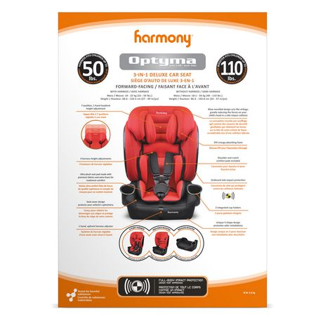 Harmony Optyma Harnessed 3-in-1 Deluxe Combination Car Seat - image 5 of 6