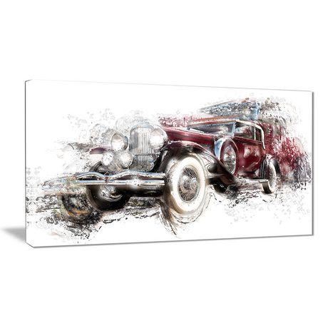 Design Art American Hot Rod Canvas Wall Art | Walmart Canada