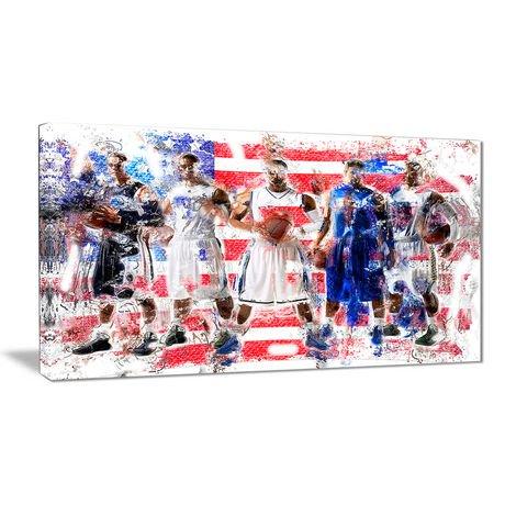 Décoration murale sur toile design art à motif de basketball é u walmart canada