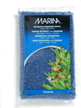 Marina blue decorative aquarium gravel 2kg 4 4 lb for Walmart fish gravel