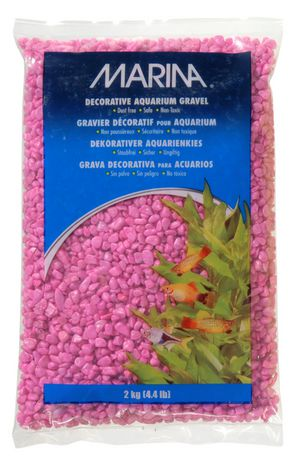Marina pink decorative aquarium gravel 2kg 4 4 lb for Walmart fish gravel