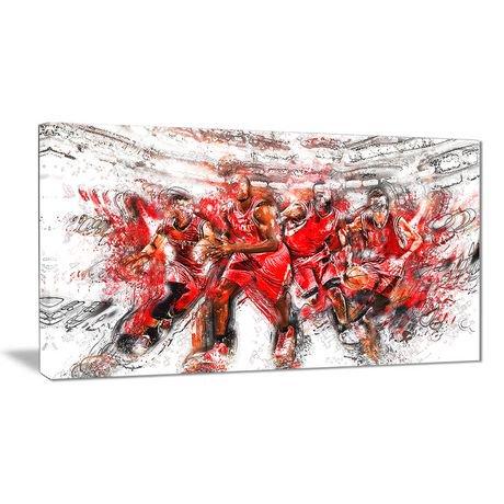 Décoration murale sur toile design art à motif de basketball les attaque walmart canada